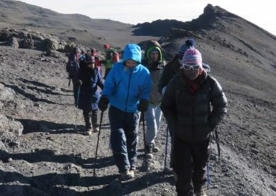 Trekkers Climbing Mount Kilimanjaro; is it really difficult?